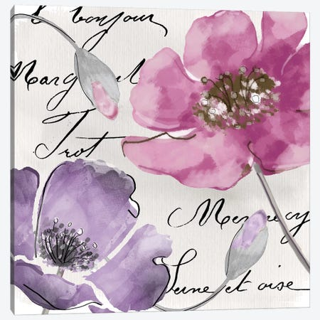 Fleurs de France I Canvas Print #CBY399} by Color Bakery Canvas Artwork
