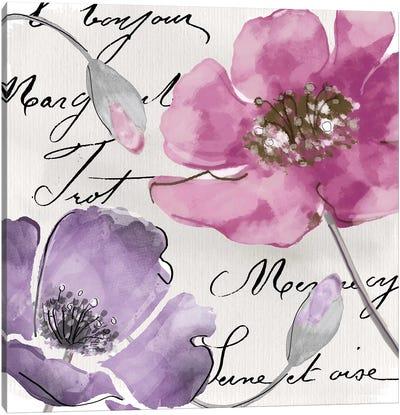 Fleurs de France I Canvas Art Print