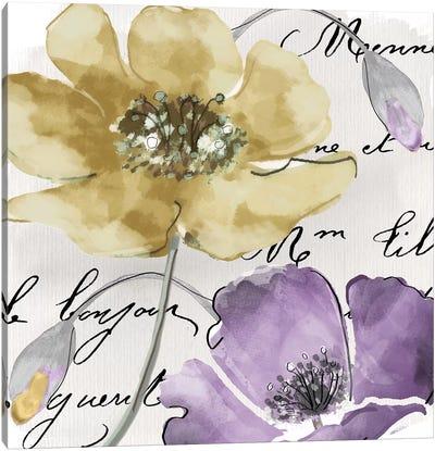 Fleurs de France II Canvas Art Print