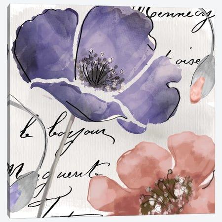 Fleurs de France III Canvas Print #CBY401} by Color Bakery Canvas Wall Art