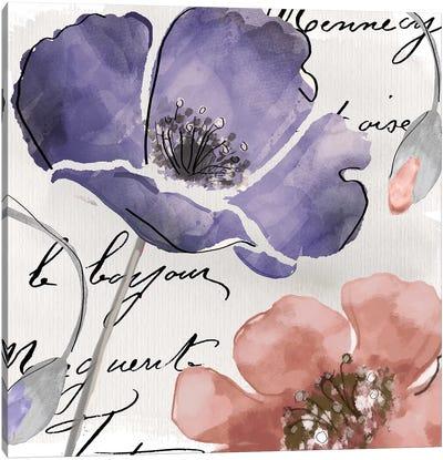 Fleurs de France III Canvas Art Print