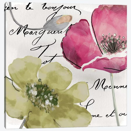 Fleurs de France IV Canvas Print #CBY402} by Color Bakery Canvas Artwork