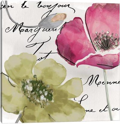 Fleurs de France IV Canvas Art Print