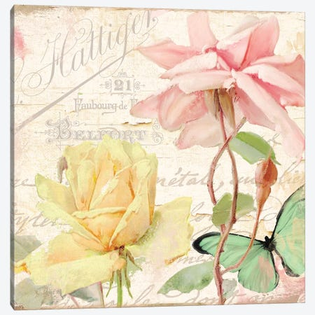 Florabella IV Canvas Print #CBY412} by Color Bakery Canvas Print