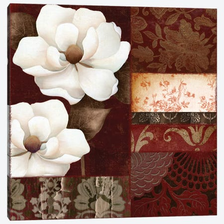Flores Blancas III Canvas Print #CBY415} by Color Bakery Canvas Art