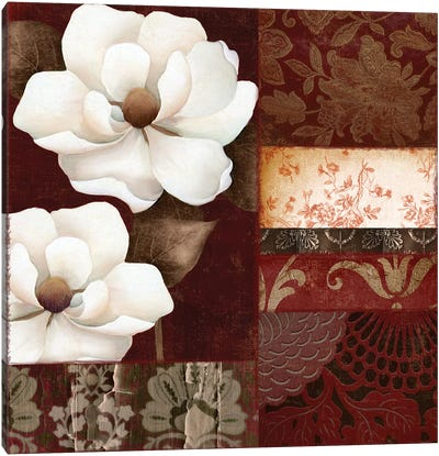 Flores Blancas III Canvas Art Print