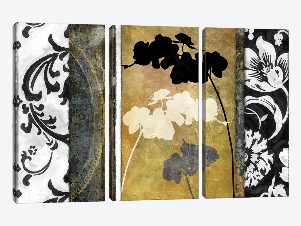 Gardenscape I 3-piece Canvas Art Print