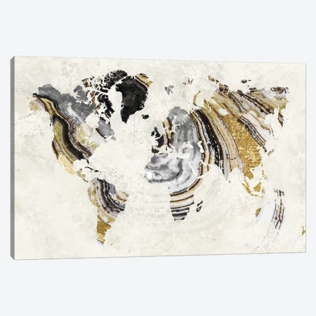 Geode World 3-Piece Canvas #CBY444} by Color Bakery Canvas Print