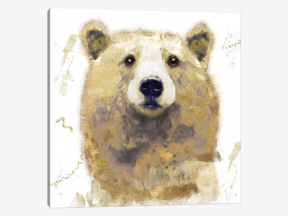 Golden Forest - Bear by Color Bakery 1-piece Canvas Print