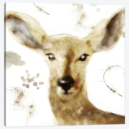 Golden Forest - Deer Canvas Print #CBY474} by Color Bakery Canvas Artwork