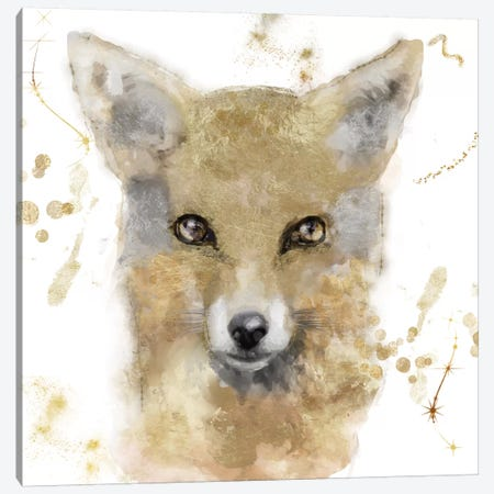 Golden Forest - Fox Canvas Print #CBY475} by Color Bakery Canvas Art