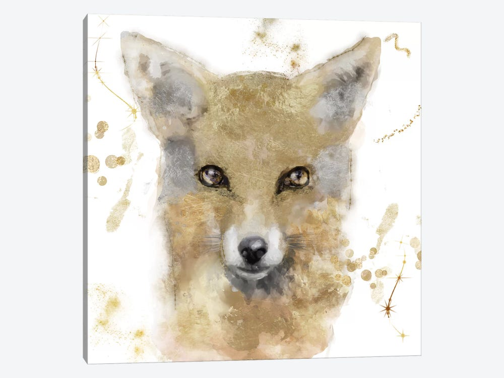 Golden Forest - Fox by Color Bakery 1-piece Canvas Print