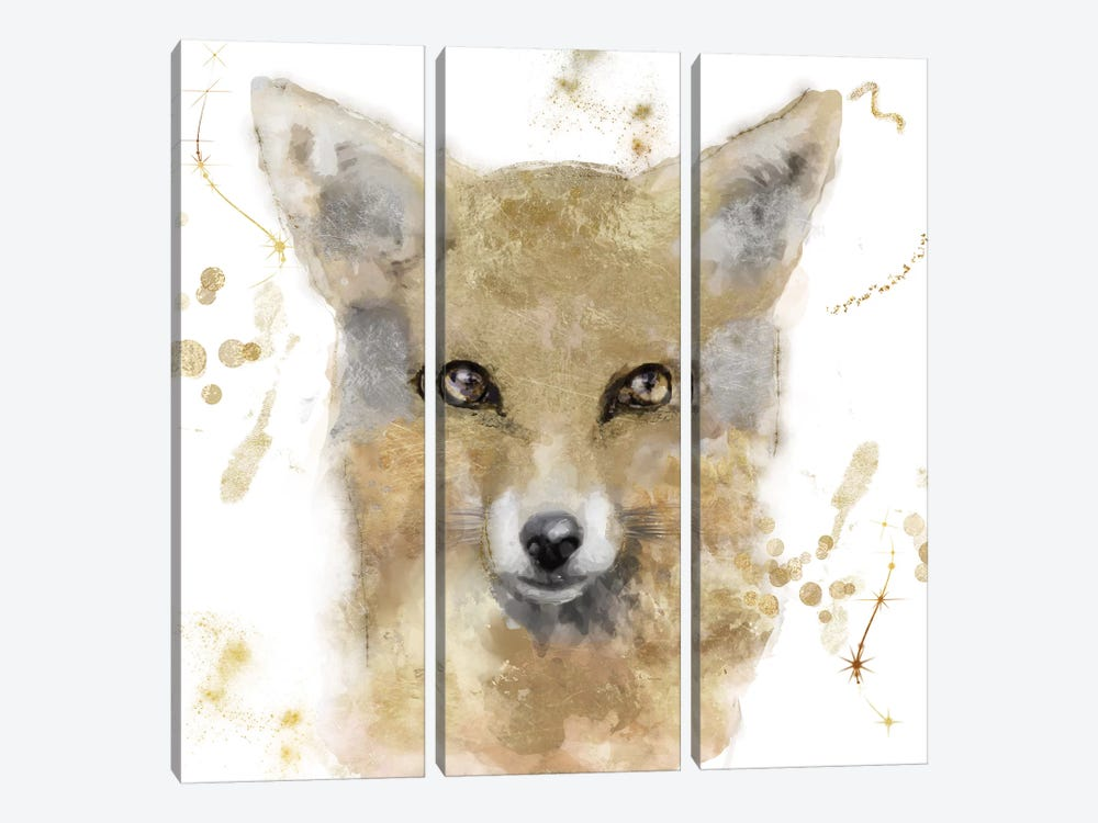 Golden Forest - Fox by Color Bakery 3-piece Art Print