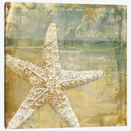 Golden Sea IV Canvas Print #CBY480} by Color Bakery Canvas Artwork