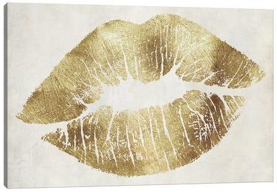 Hollywood Kiss Gold Canvas Art Print