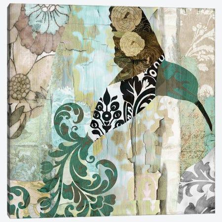 Hummingbird Batik I Canvas Print #CBY502} by Color Bakery Canvas Art Print
