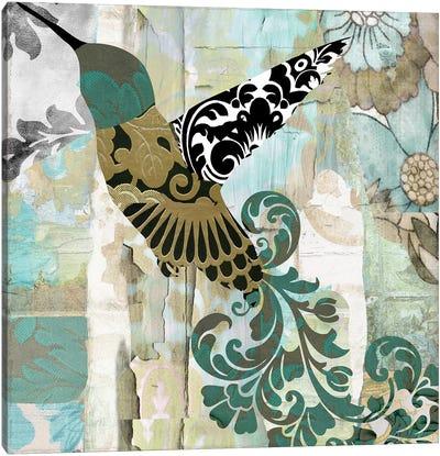 Hummingbird Batik II Canvas Art Print