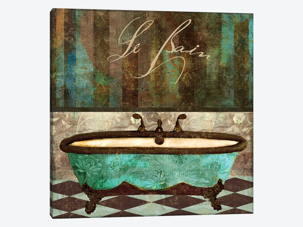 Le Bain Aqua by Color Bakery 1-piece Art Print