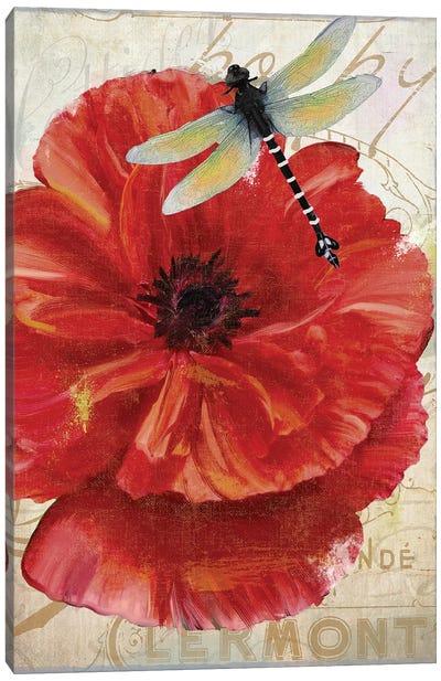 Le Pavot Dragonfly Canvas Art Print