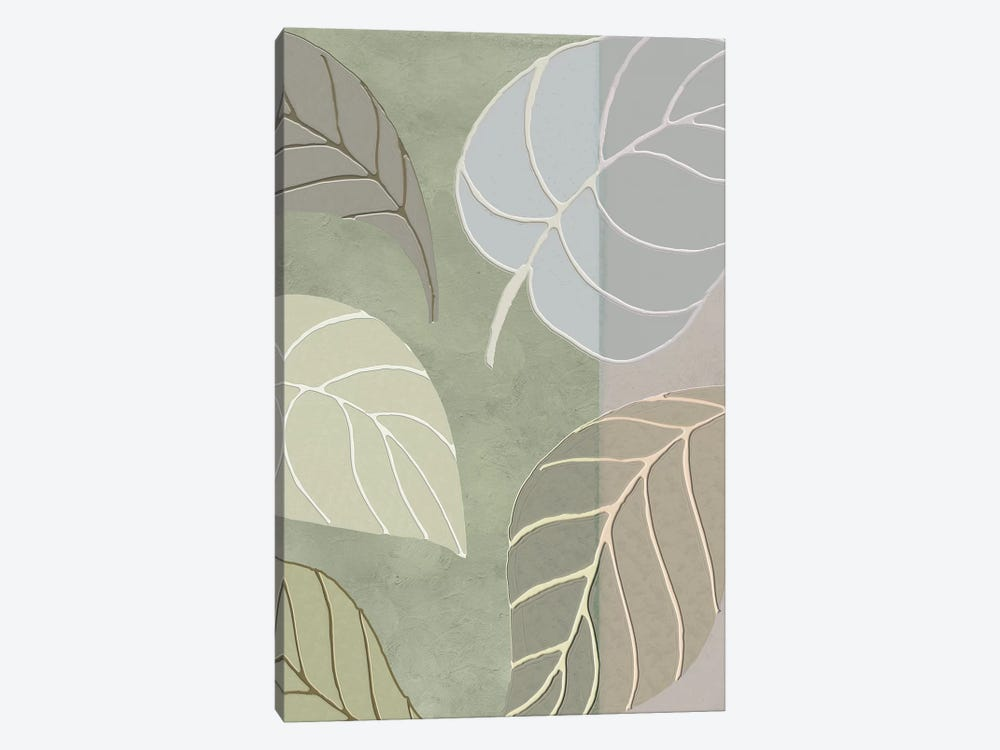 Leaf Story V by Color Bakery 1-piece Canvas Print