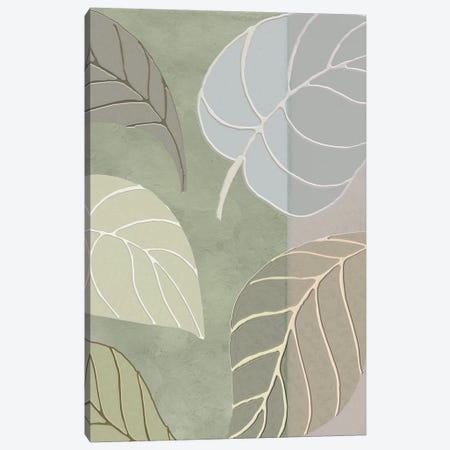 Leaf Story V Canvas Print #CBY565} by Color Bakery Canvas Art