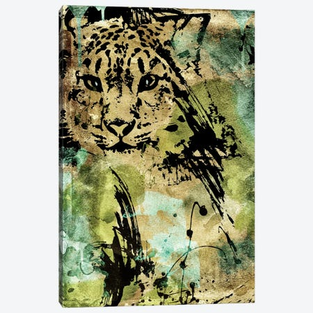 Leopard Ink Canvas Print #CBY572} by Color Bakery Canvas Artwork