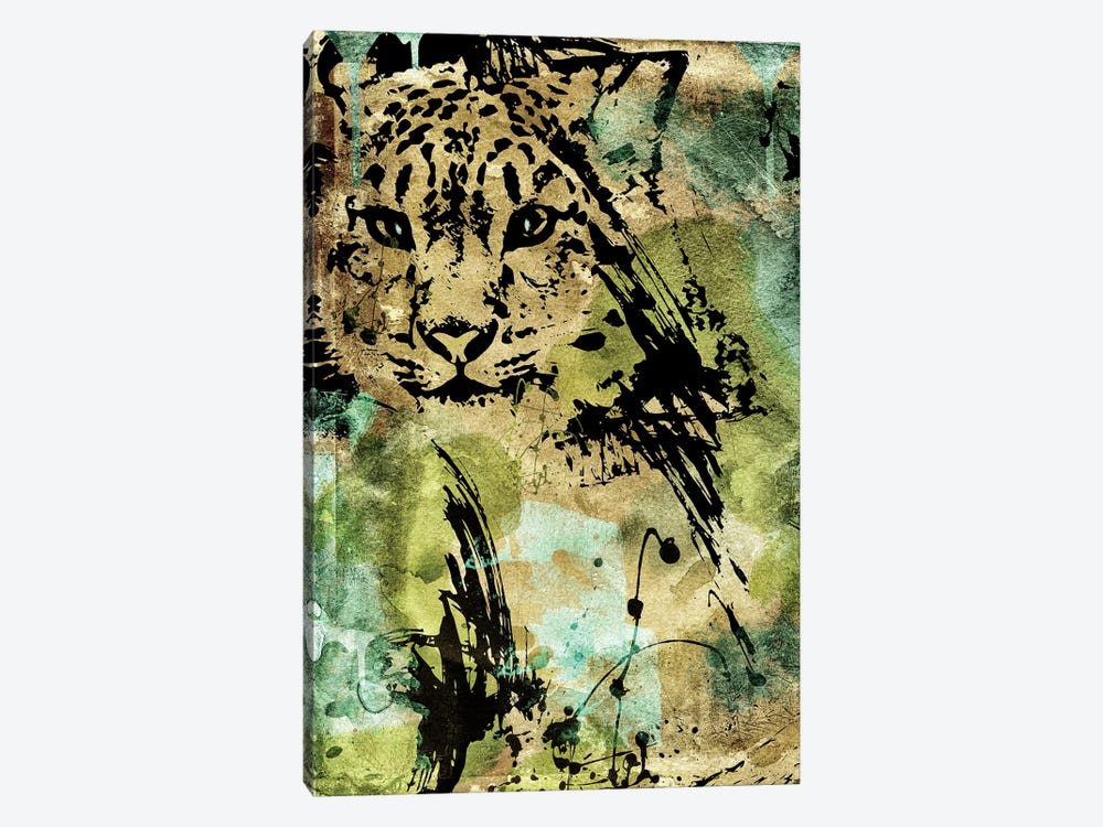 Leopard Ink by Color Bakery 1-piece Canvas Print