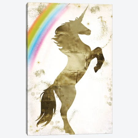Magic Unicorn I Canvas Print #CBY587} by Color Bakery Canvas Wall Art