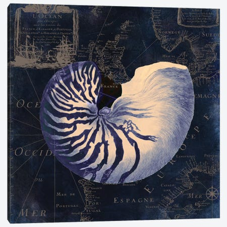 Maritime Blues V Canvas Print #CBY601} by Color Bakery Canvas Art