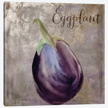 Medley Gold Eggplant Canvas Print #CBY605} by Color Bakery Canvas Art Print
