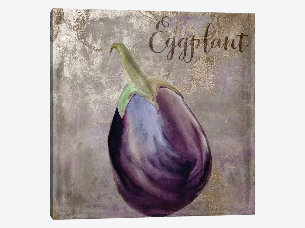 Medley Gold Eggplant by Color Bakery 1-piece Canvas Print
