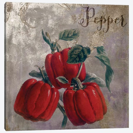 Medley Gold Peppers Canvas Print #CBY606} by Color Bakery Canvas Art Print