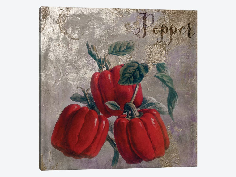 Medley Gold Peppers by Color Bakery 1-piece Canvas Artwork