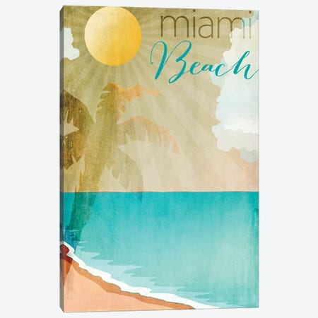 Miami Beach Canvas Print #CBY614} by Color Bakery Canvas Art