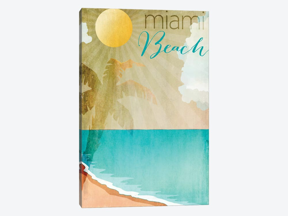 Miami Beach by Color Bakery 1-piece Canvas Art Print