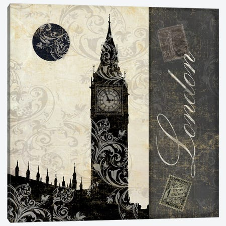 Moon Over London I Canvas Print #CBY631} by Color Bakery Canvas Print