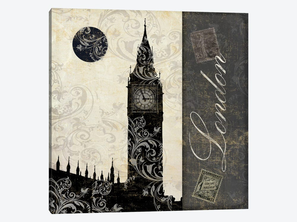 Moon Over London I by Color Bakery 1-piece Canvas Wall Art