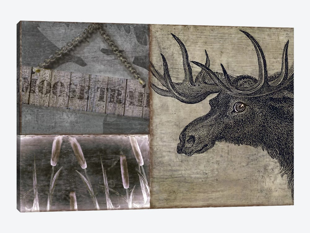 Moose 1-piece Canvas Wall Art