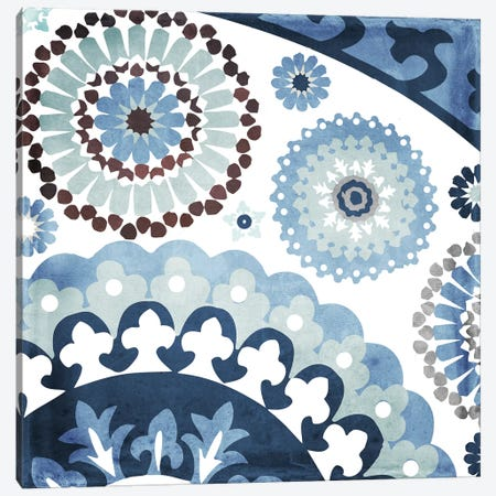 Moroccan Blues I Canvas Print #CBY640} by Color Bakery Canvas Art