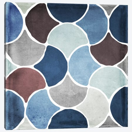 Moroccan Blues II Canvas Print #CBY641} by Color Bakery Canvas Artwork