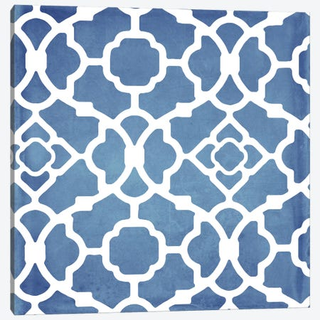 Moroccan Blues III Canvas Print #CBY642} by Color Bakery Canvas Art