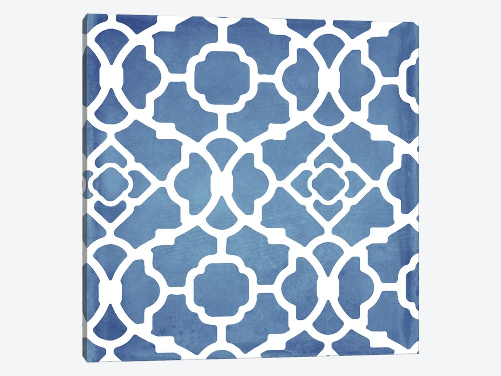 Moroccan Blues III 1-piece Canvas Wall Art