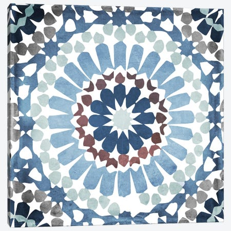 Moroccan Blues IV Canvas Print #CBY643} by Color Bakery Canvas Art