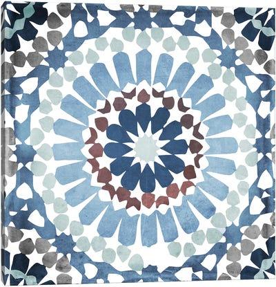 Moroccan Blues IV Canvas Art Print