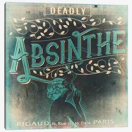 Absinthe Canvas Print #CBY64} by Color Bakery Canvas Wall Art