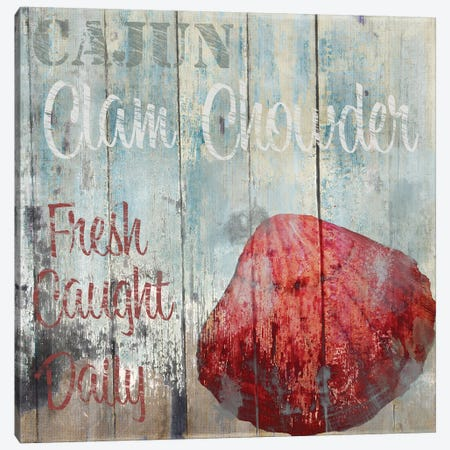 New Orleans Seafood IV Canvas Print #CBY659} by Color Bakery Art Print