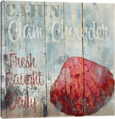New Orleans Seafood IV Canvas Art Print