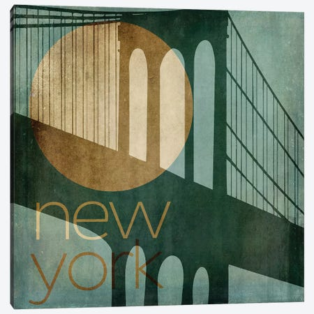 New York Canvas Print #CBY660} by Color Bakery Canvas Wall Art