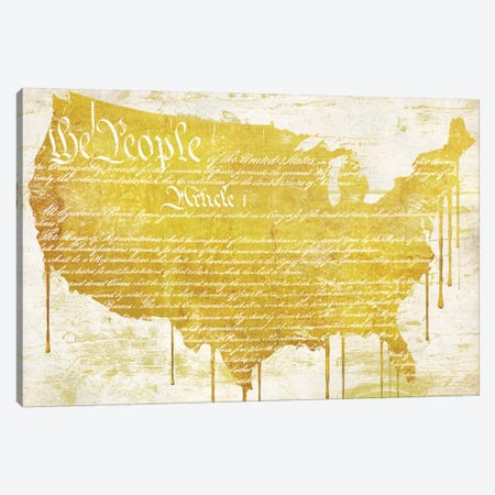 American Dream II Canvas Print #CBY6} by Color Bakery Canvas Wall Art