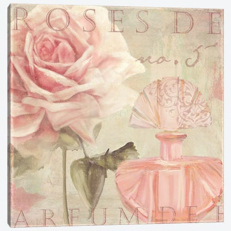 Parfum de Roses I Canvas Print #CBY707} by Color Bakery Canvas Artwork